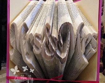 Book Folding Pattern 'Mrs & Mrs' (452 Folds) PDF with Tutorial - Immediate Download
