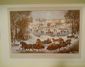 4 Currier & Ives Postcards  Americana Scenes