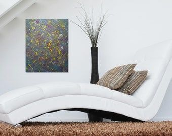 Abstract Expressionism Painting on 16X20 Canvas