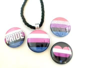 Genderfluid Pride Necklace | Magnetc Necklace |  Genderfluid Pride Jewelry | Genderfluid Necklace | Genderfluid Jewelry | MOGAI Necklace