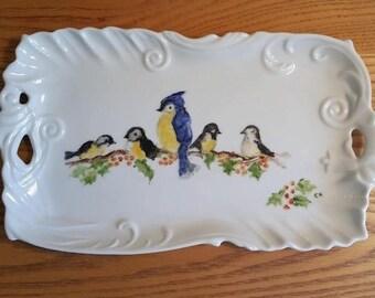 Bohemian Haas & Czjzek Hand-painted Porcelain Tray