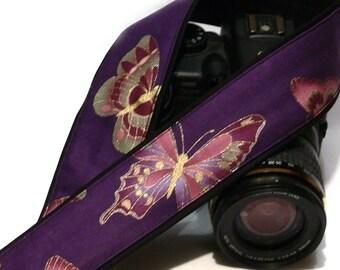 Butterflies Camera Strap. Nikon Canon Camera Strap. Gift for Her. Camera Accessories.