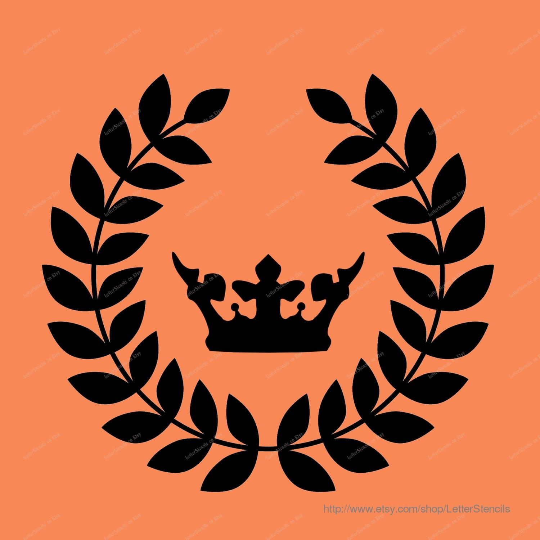 Royal Crown Monogram Stencil Style 1 Monogram by ...