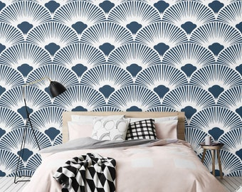 Removable Peel and Stick adhesive vinyl Wallpaper - CM012 NAVY