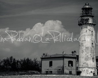 Po lighthouse landscape, photography, printed
