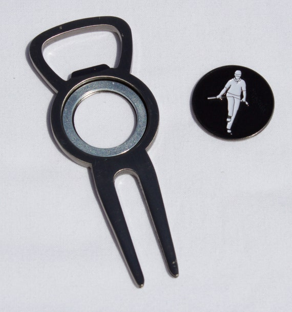 divot tool bottle opener and ball marker by bipolargolf on etsy. Black Bedroom Furniture Sets. Home Design Ideas
