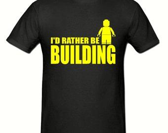 I'd rather be building t shirt,men,s t shirt sizes small- 2xl, gift,Building t shirt