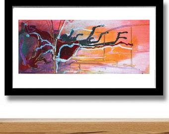 WINTER SUNRISE Abstract modern art print; home decor; wall art, statement piece from original mixed media