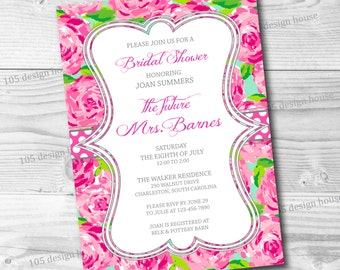Lilly Pulitzer Invitation Printable - Bridal Shower Invitation - Printable Bridal Shower Invitation - Can be customized for any event