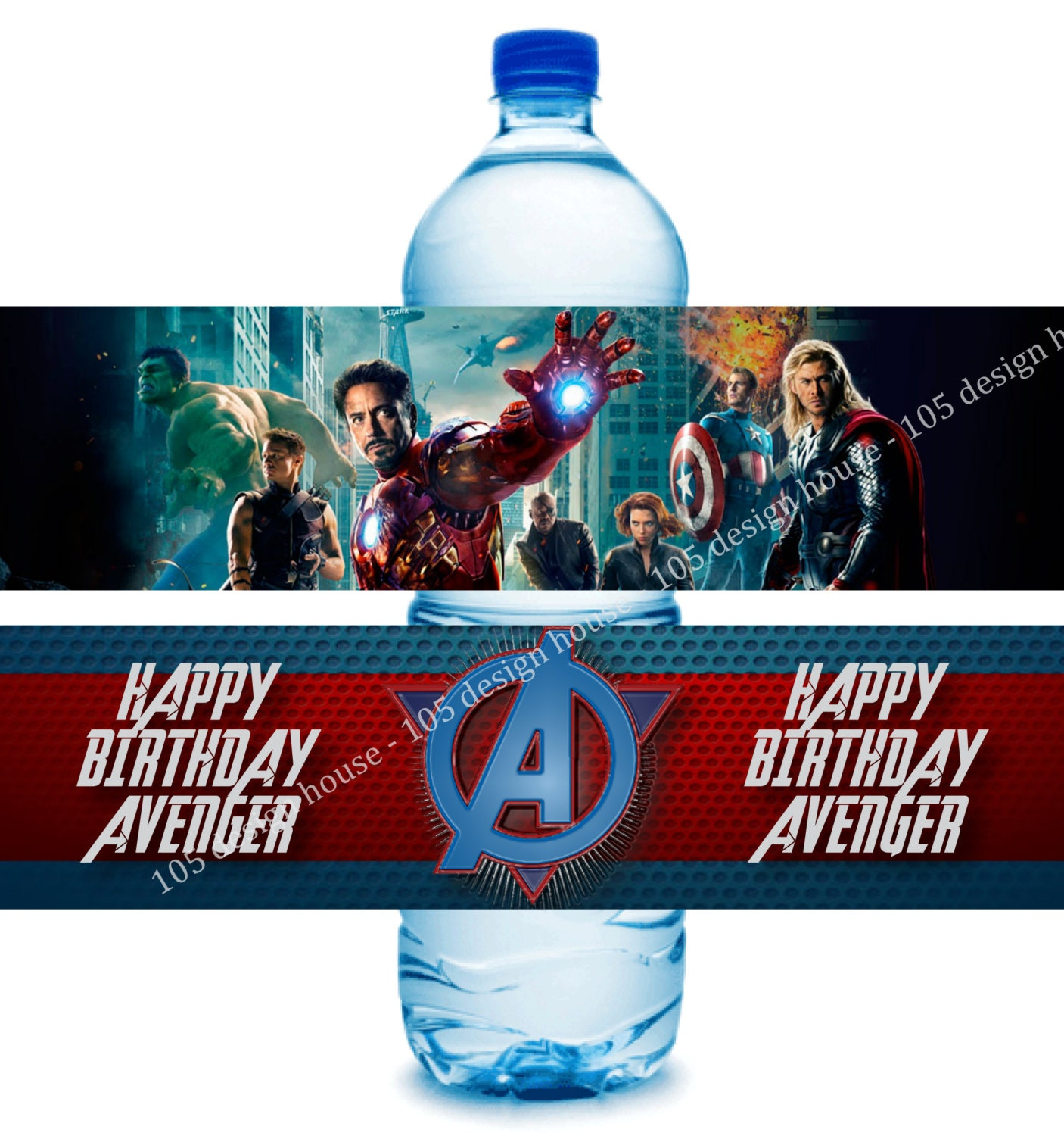 instant download avengers water bottle label by 105designhouse With avengers water bottle labels