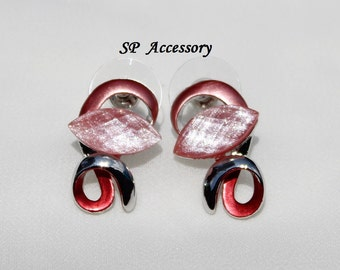 sparkling Pink Earrings, pink jewelry, stainless steel earrings, jewelry earrings