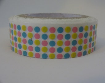 Washi masking tape with pastel polka dots 11 yards decorative crafting tape washi tape cardmaking tape scrapbook tape birthday washi