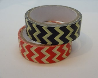 Red and black pattern Washi  tape 10 m/11 yards total crafting tape washi tape decorative cardmaking tape scrapbook tape
