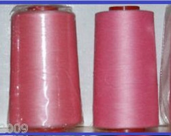 Bright Pink 17 Overlocking Sewing Machine Polyester Thread Four 5000 yard Cones