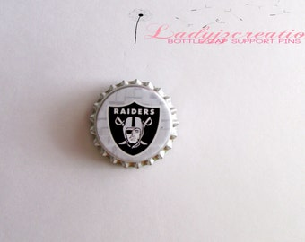 NFL Raiders Bottlecap Support Pin