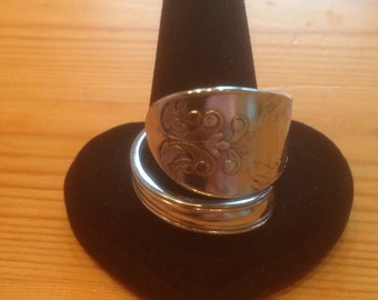 Spoon Ring Silver 1858