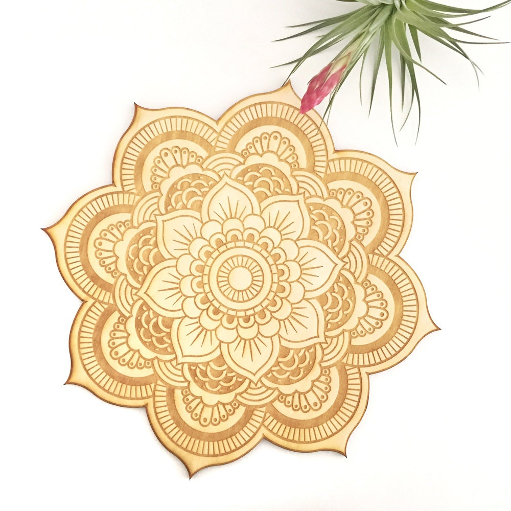 Spiritual Wall Art floral mandala wood sign spiritual wall art wood mandala
