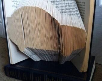 Car book folding pattern