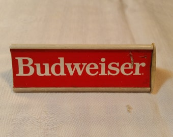 Budweiser beer tap handle. Vintage pull handle