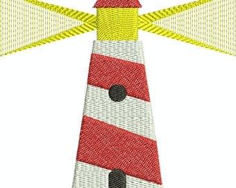 Lighthouse - digital embroidery design