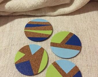 Colour block coasters