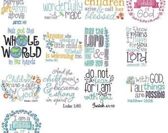 Children's Bible Too Filled Stitch Machine Embroidery Designs 4x4 5x7 6x10