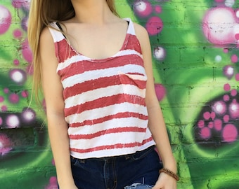 Red stripped tank top