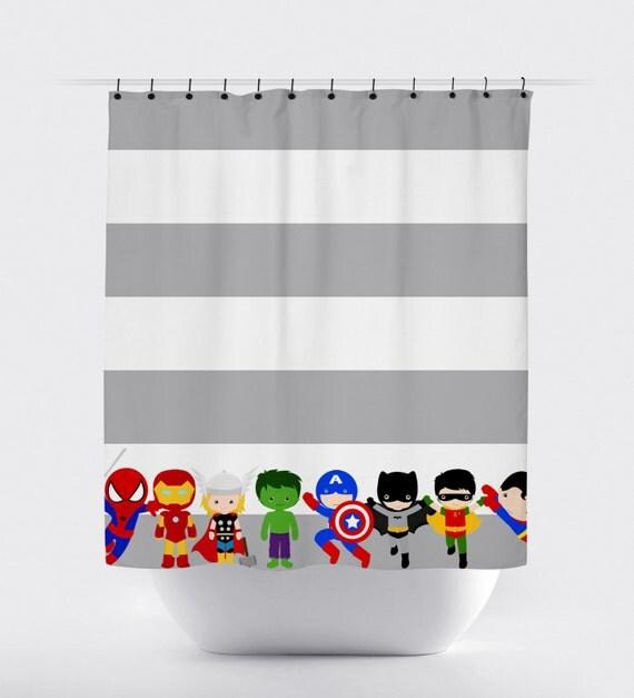 Superhero shower curtains superhero shower curtain fabric