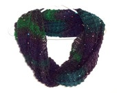 Sequin Peacock Infinity Scarf