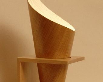 wood veneer lamp on etsy a global handmade and vintage marketplace. Black Bedroom Furniture Sets. Home Design Ideas
