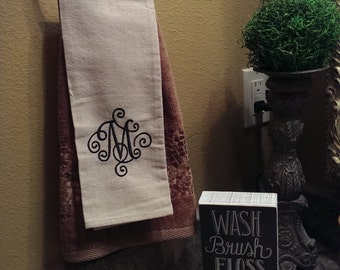 Monogramed hand towels
