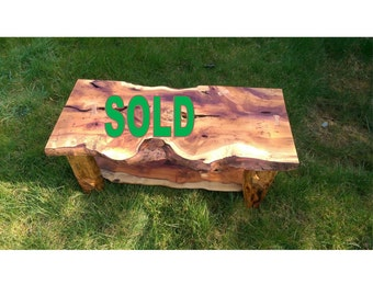 A beautiful natural yew coffee table