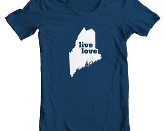Maine T-shirt - Live Love Maine - My State Maine T-shirt