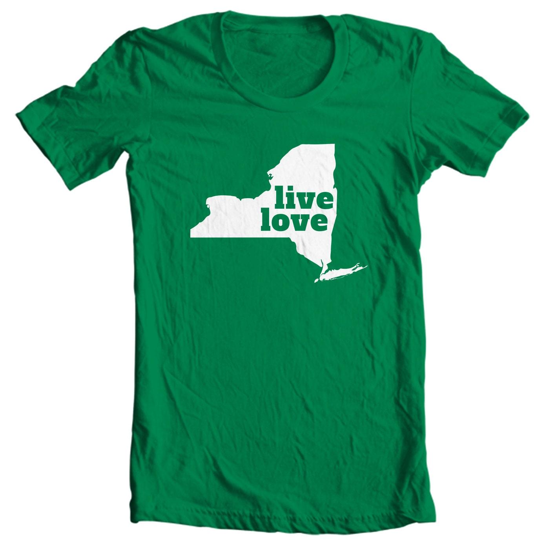 New York T-shirt - Live Love New York - My State New York T-shirt