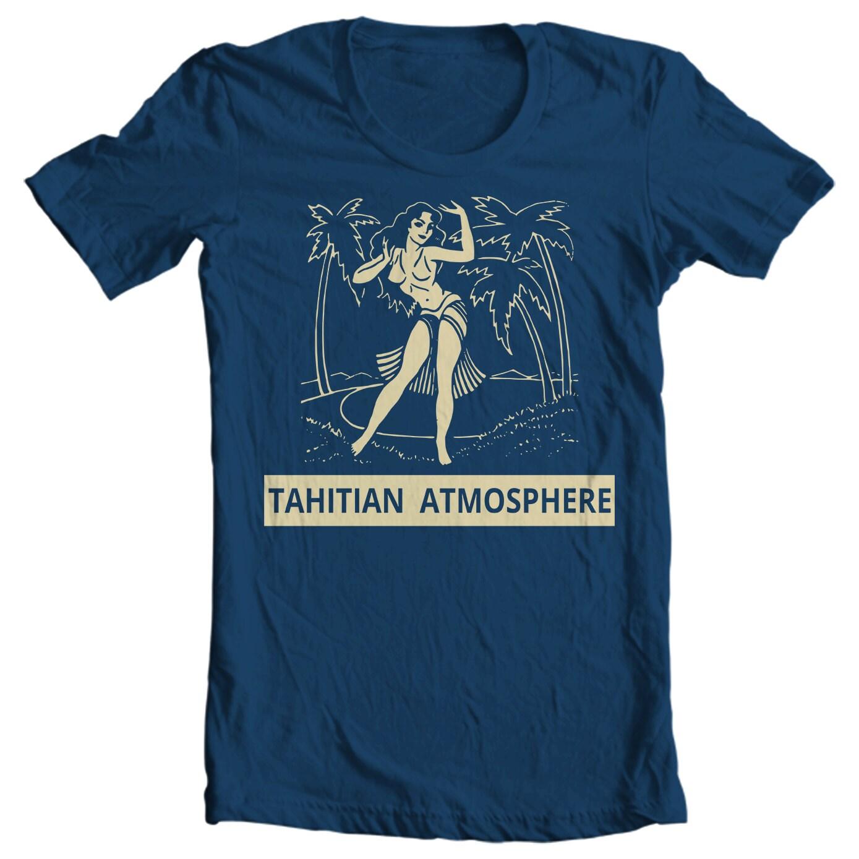 Vintage Pin Up T-shirt - Tahitian Atmosphere Vintage Matchbook T-shirt