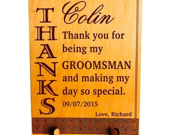 Personalized Groomsman Gift,Thank you Gift to Bestman from Groom, Custom Wedding Favors,Bridal Entourage Gifts , Wedding Appreciation Gifts.