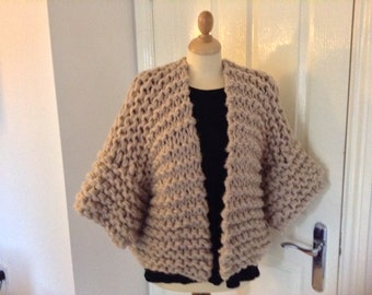 Super chunky hand knitted cardigan