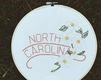 "North Carolina - Dogwood 9"" Hoop"