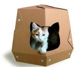 Martian Cardboard Cat House, Cat Furniture, Cat Toy, Cat Bed, Cat Cave, Pet House, Cardboard Furniture