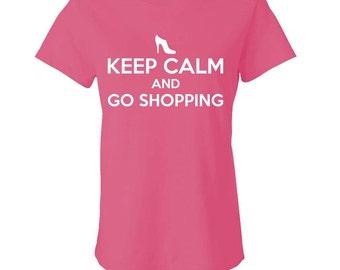 KEEP CALM and Go SHOPPING Women's Babydoll Tee - girly, cute, fashion