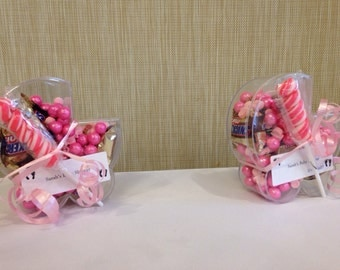 Stroller candy favors for baby showers