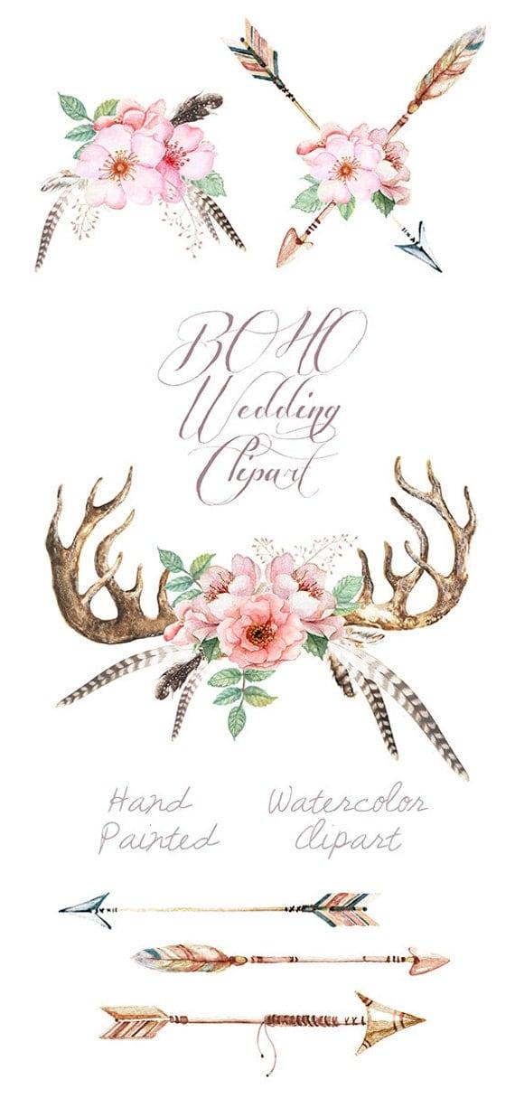Handmade Spark - ReachDreams - Watercolor Wedding Clip Art ...