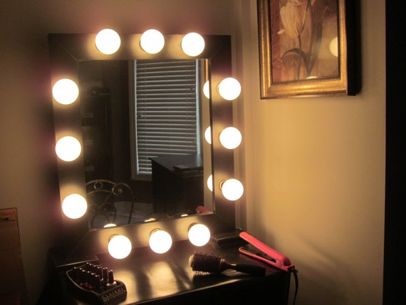 Vanity Mirror With Lights Hollywood Style : Metallic Hollywood Style Lighted Vanity by LightedImpressions