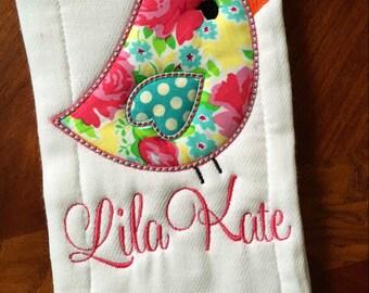 Sweet tweet burp cloth with name !
