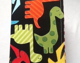 Dinosaurs on black bible cover