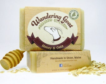 Honey Oatmeal Goat Milk Soap - Unscented