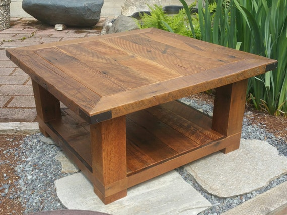 Old Seattle Reclaimed Wood Square Coffee Table By Avintagemission