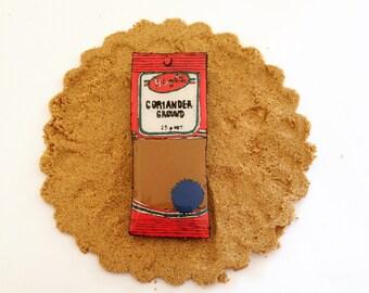 Wearable Art Brooch: Coriander