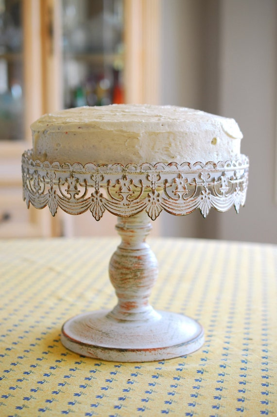 Vintage Metal Cake Cupcake Stand Victorian French Shabby