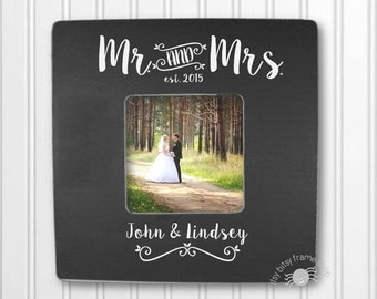 Wedding Gift Engagement Gift Personalized Gift Wedding Frame Mr. and Mrs. IBFSF